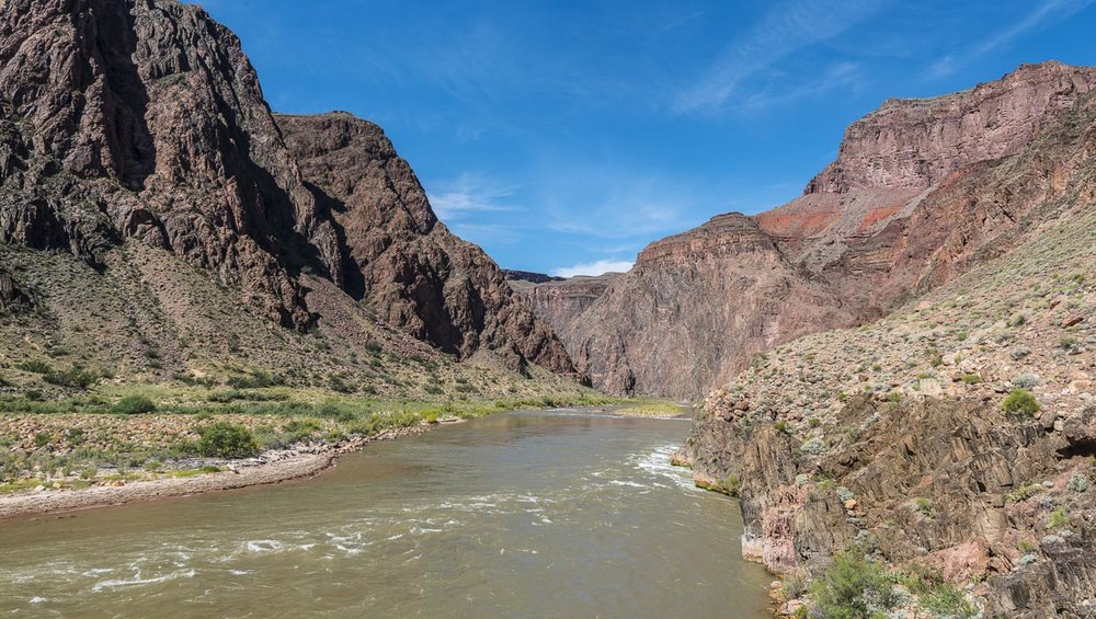 Colorado River in the heart of Grand Canyon