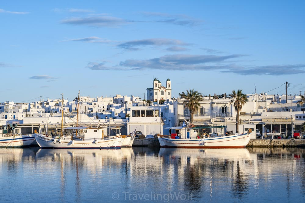 harbour naoussa paros cyclades greece
