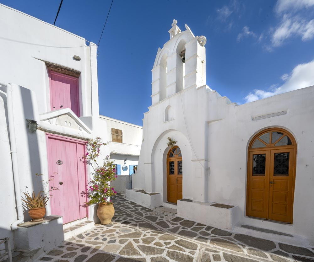 little church marpissa paros cyclades greece