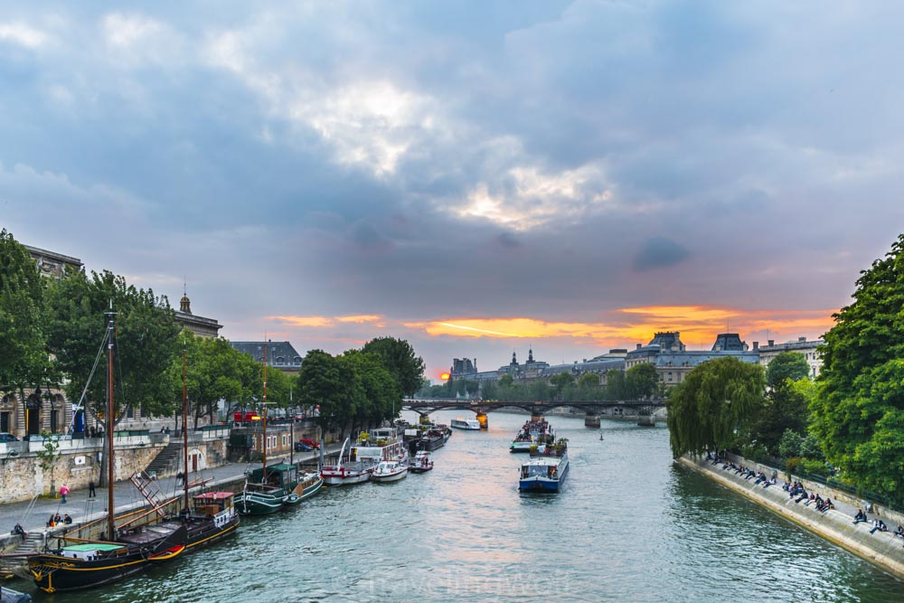 river seine sunset