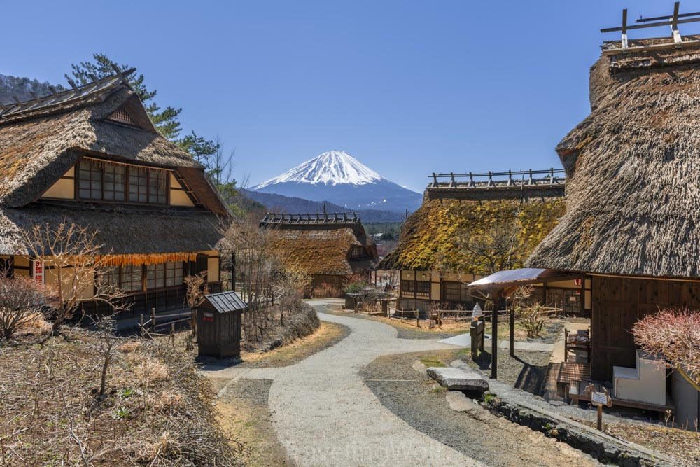 Iyashinosato historic Village mount fuji japan