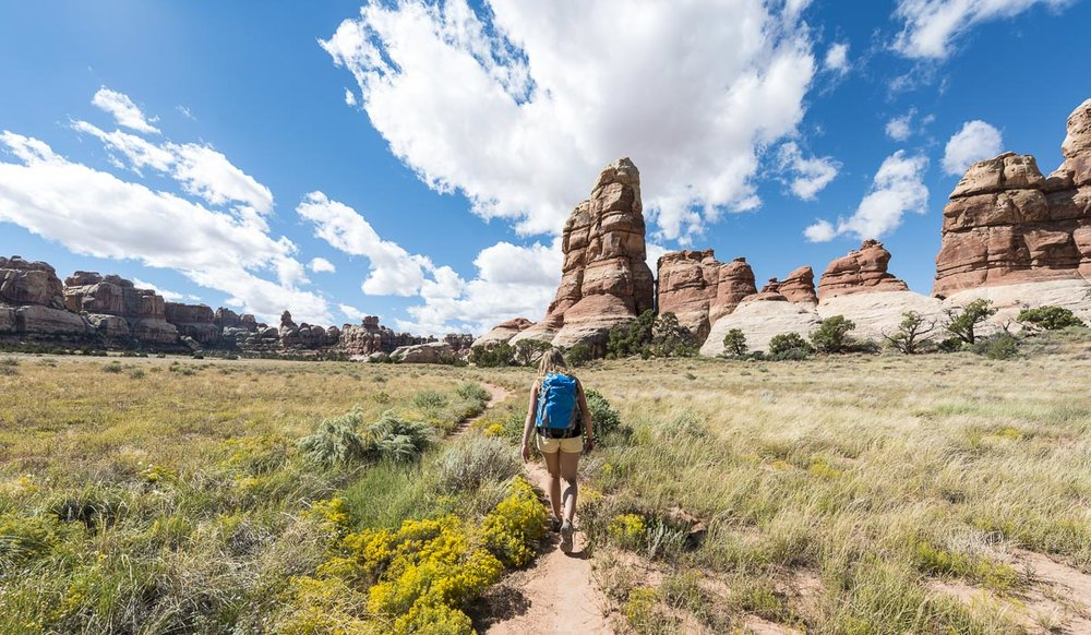 hike in needles district canyonlands