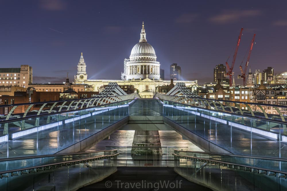 millenium bridge st. pauls cathedral london
