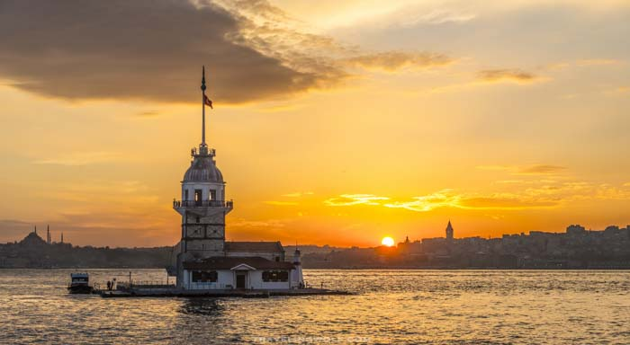 maiden-tower-sunset-istanbul-turkey