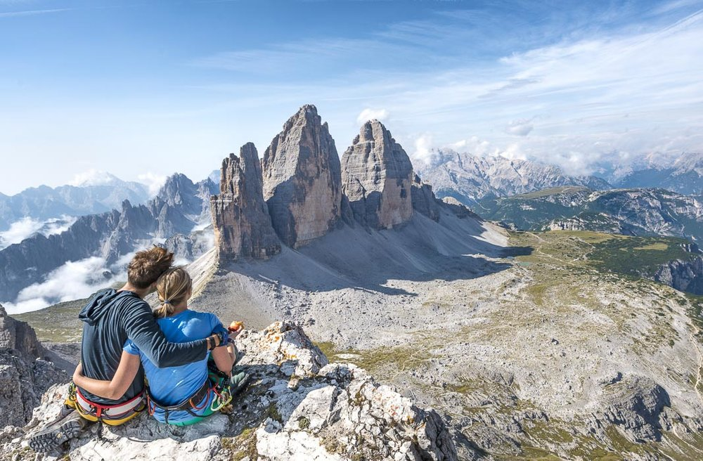 view from paternkofel to tre cime